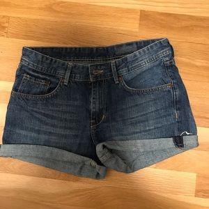 H&M Cuffed Denim Shorts